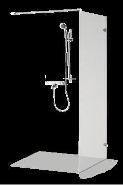 Rahmenlose Duschwand DORA
